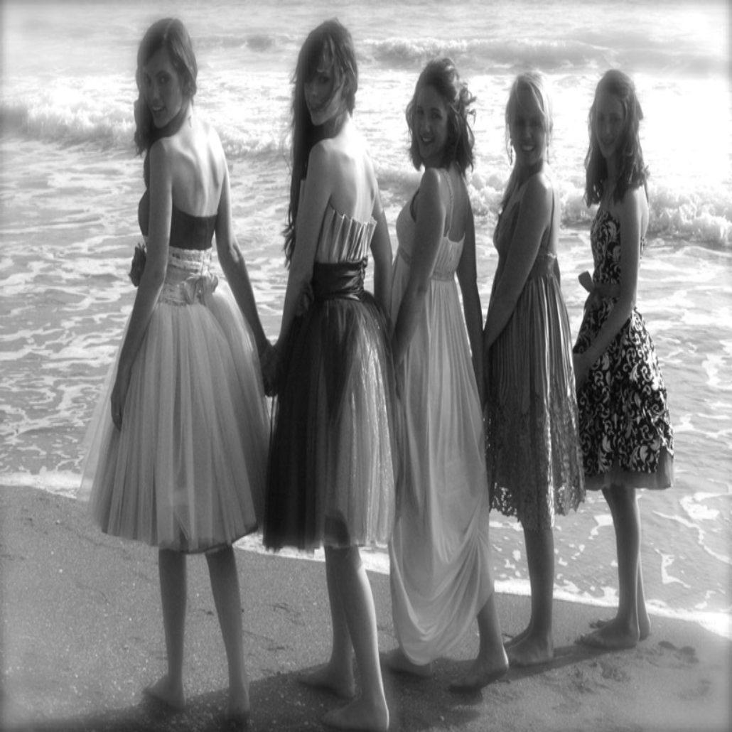 Siesta Key Beach Wedding Ceremony: 24. Bride And Bridesmaids Beach Wedding Siesta Beach FL