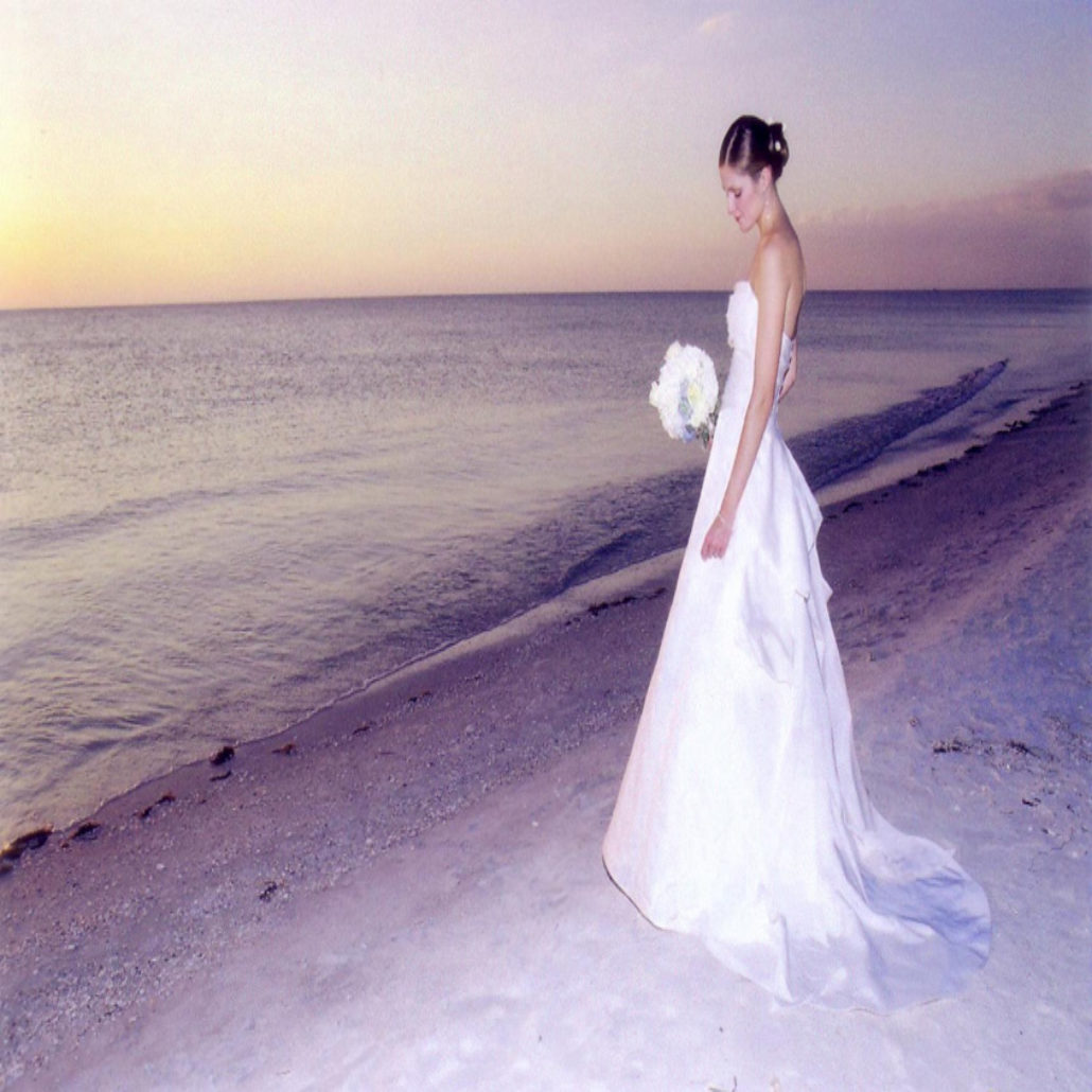 Siesta Key Beach Wedding Ceremony: 28. Sunset Bride Siesta Beach FL