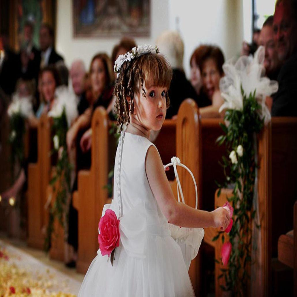 Siesta Key Beach Wedding Ceremony: 32. Church Ceremony Flower Girl Sarasota FL