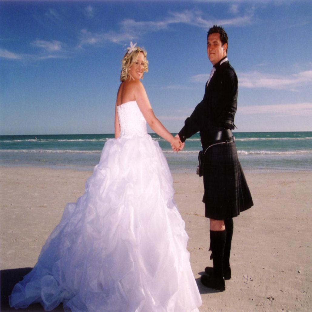 Siesta Key Beach Wedding Ceremony: 56. Scottish Wedding Couple Siesta Beach FL