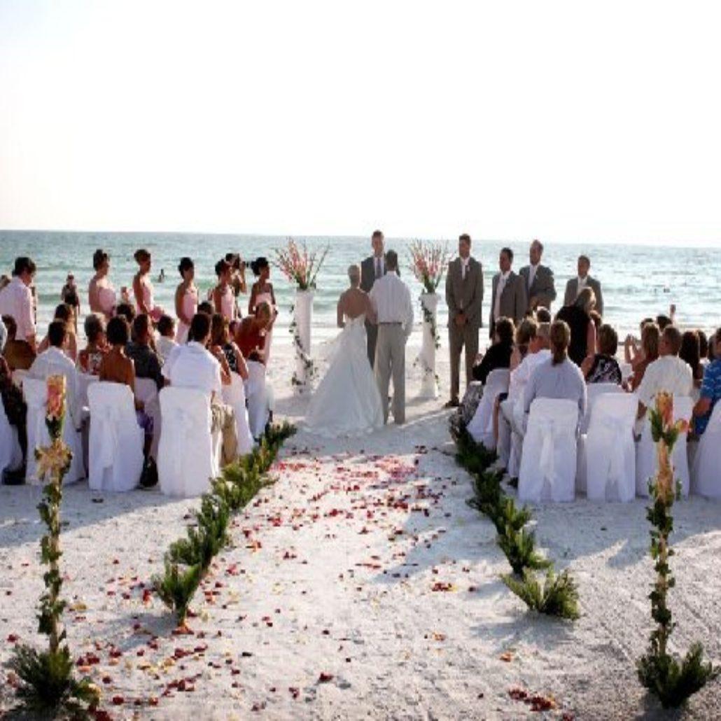 Siesta Key Beach Wedding Ceremony: 72. Wedding Party Siesta Beach FL Arch Set