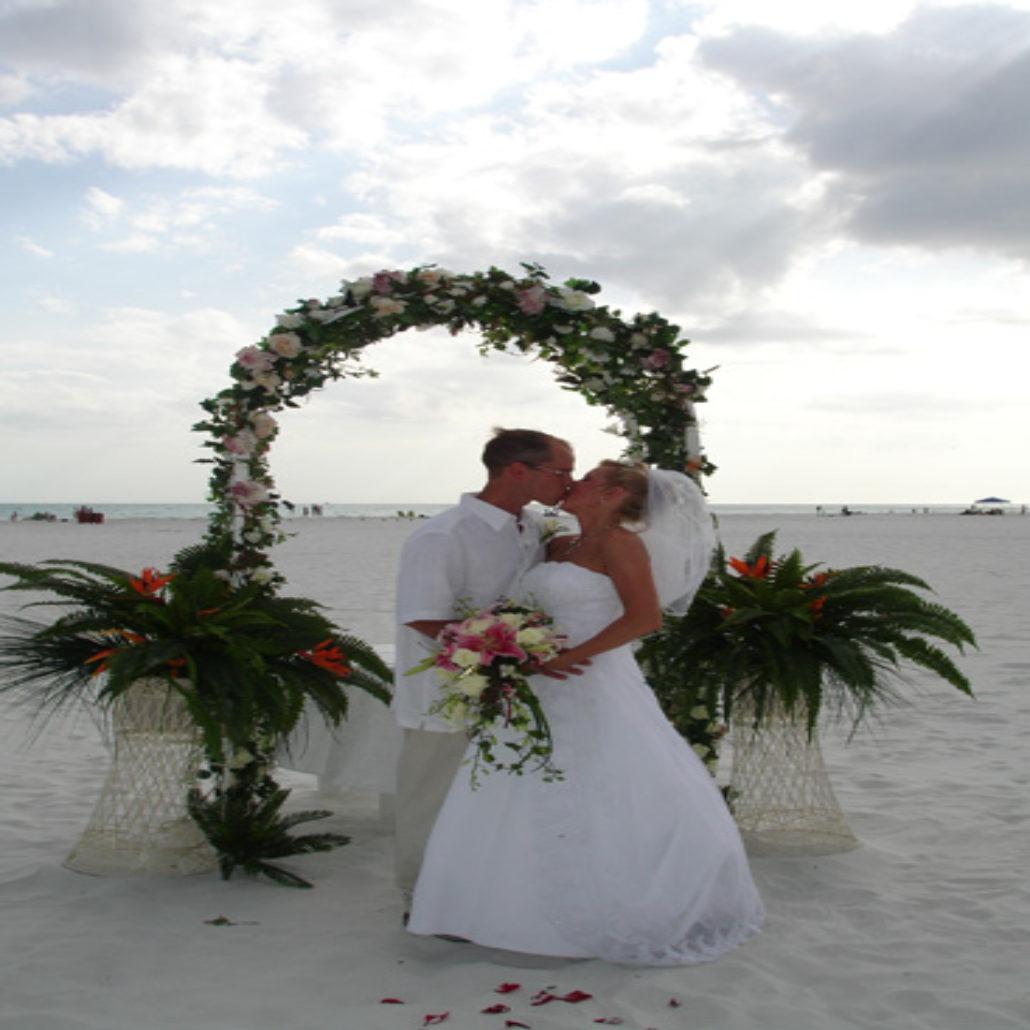 Siesta Key Beach Wedding Ceremony: 74. Wedding Ceremony Arch Siesta Beach FL