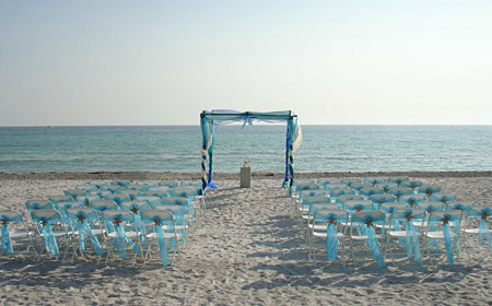 Beach Wedding Aqua Trellis In Sarasota Florida