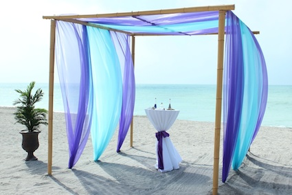Purple / Aqua Close up - Florida Beach Wedding | Siesta ...