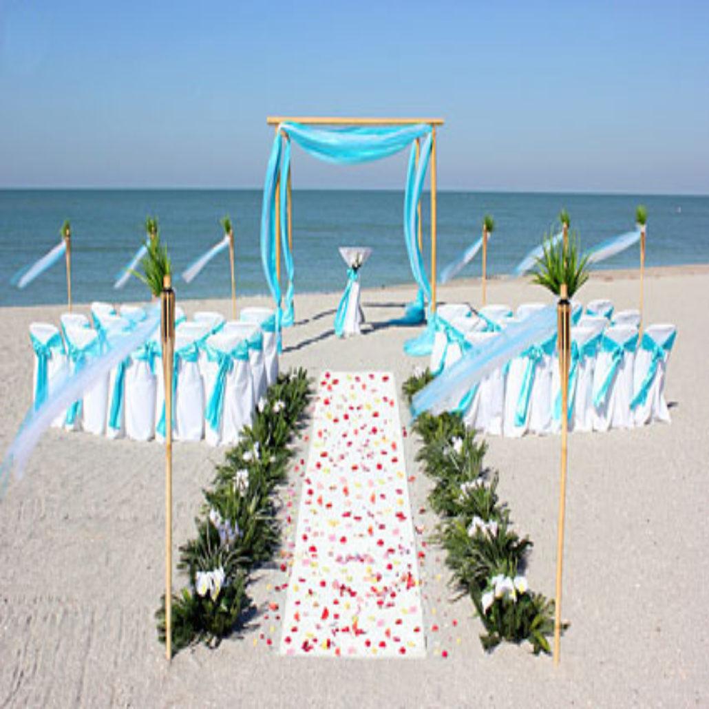 Siesta Key Beach Wedding Ceremony: 1_aqua_bamboo_trellis_chairs_siesta_key_beach_wedding