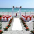 White elegance beach wedding package