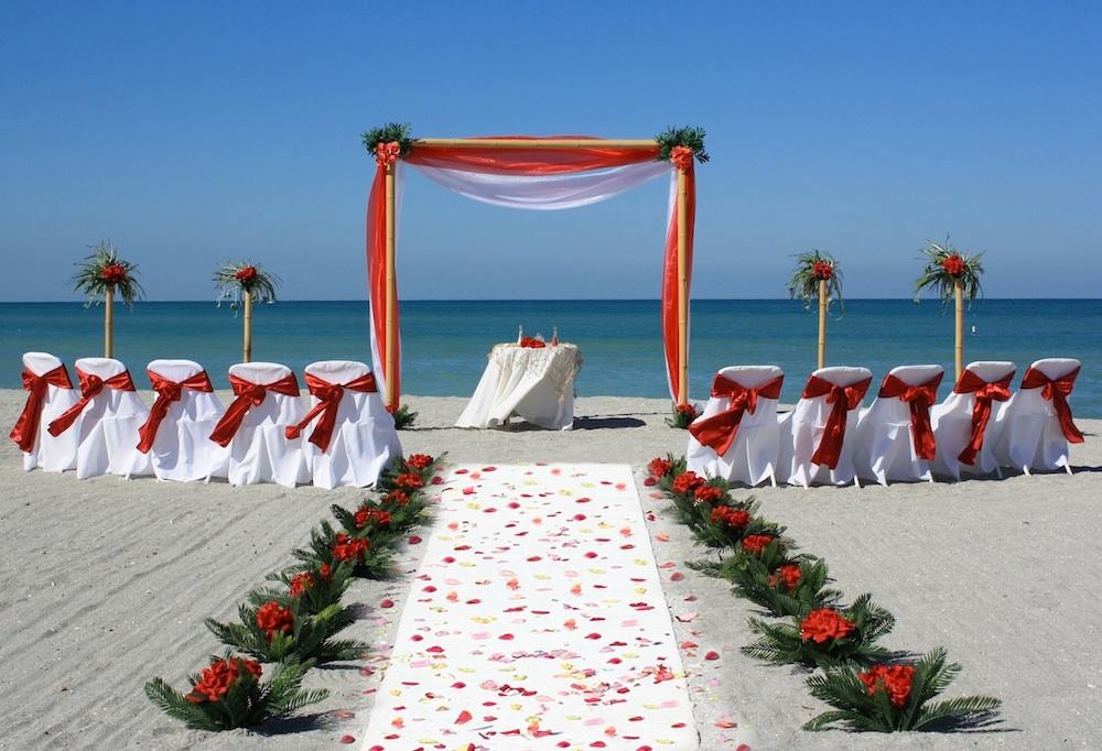8TropicalBreezeredwhite Florida Beach Wedding Siesta