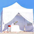 Ceremony engagement proposal white tent on the beach | florida sun weddings