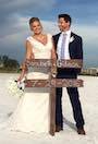 Sarabeth and Gideon hot married on SIesta Beach Florida   review for floridasunweddings