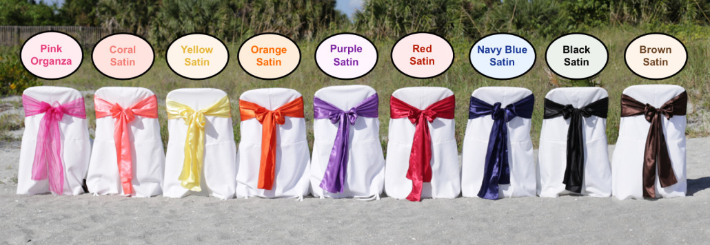 beach weddings in florida sash color