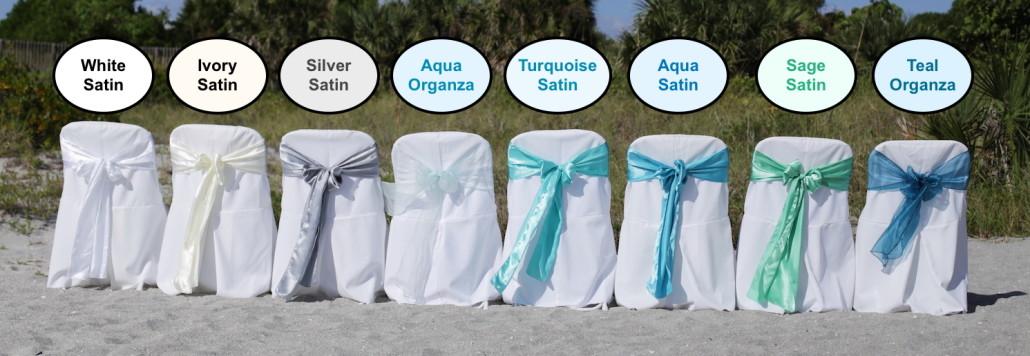 Beach wedding florida sash color option