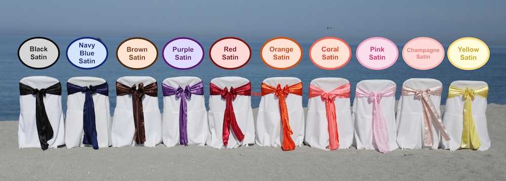 beach wedding sash colors florida sun weddings