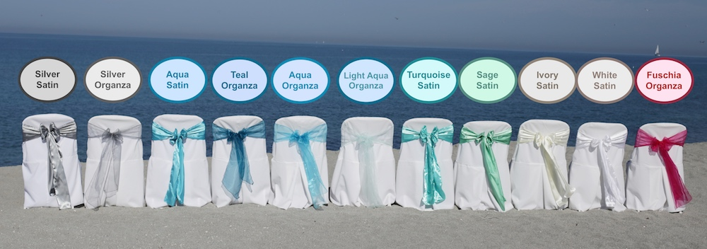 beach wedding florida weddings sash colors