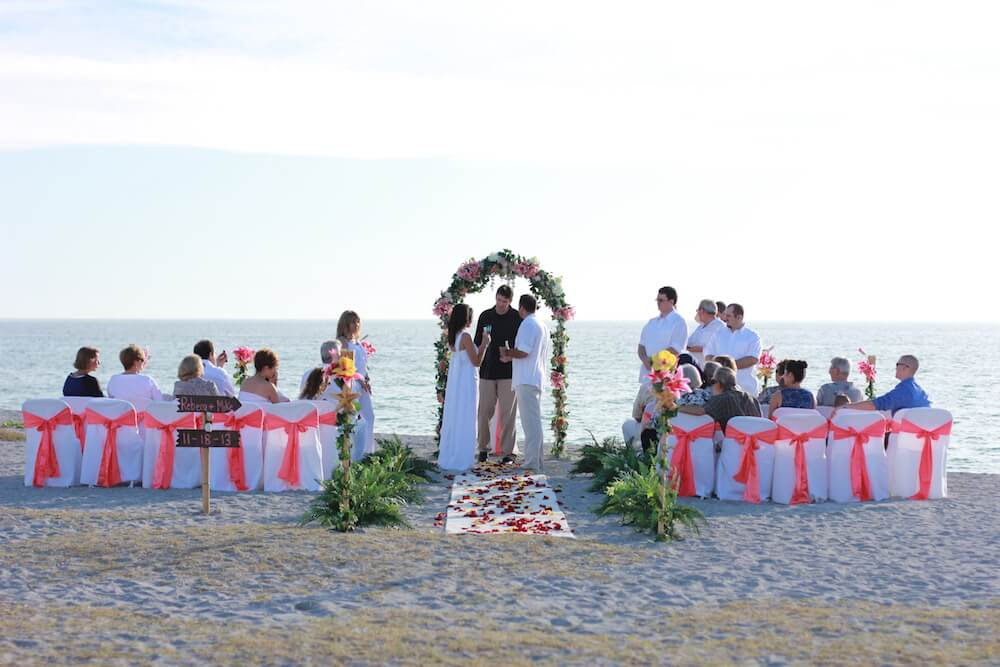 Arch For A Beach Wedding In Venice Florida