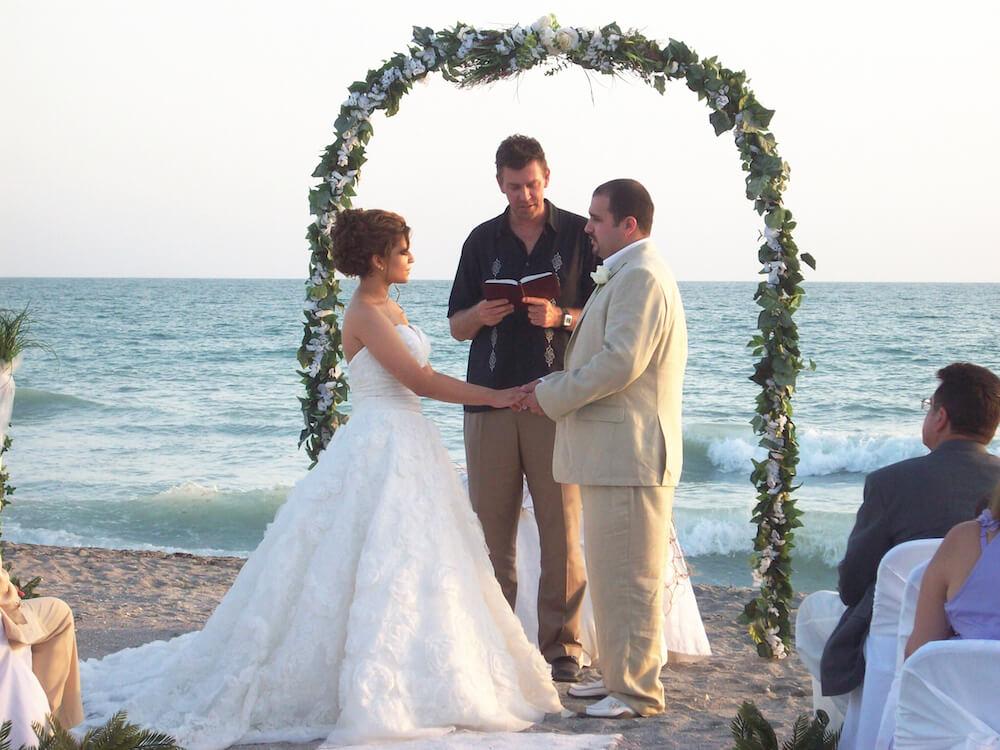 Wedding Ceremony On The Arch Of Love Venice Beach Florida