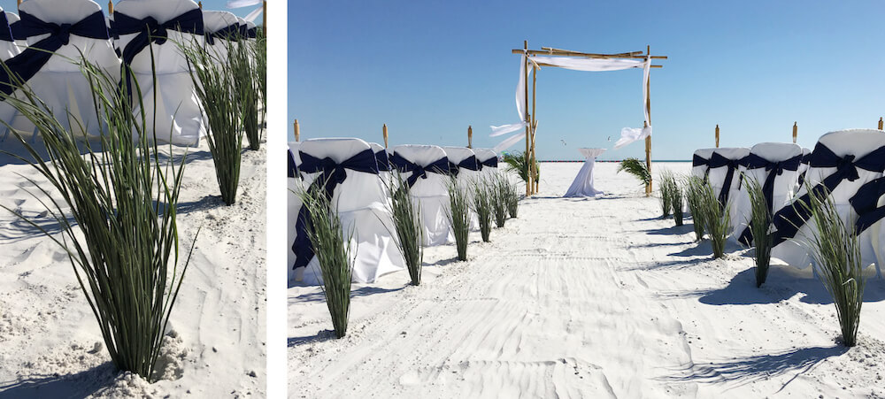 dune grass aisle | beach wedding siesta key