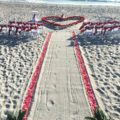 rose petal heart in the sand | florida sun weddings