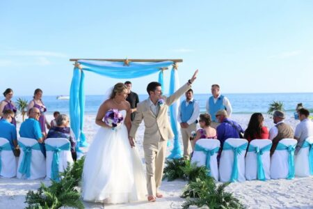 ocean waves aqua beach wedding package with starfish | floridasunweddings.com