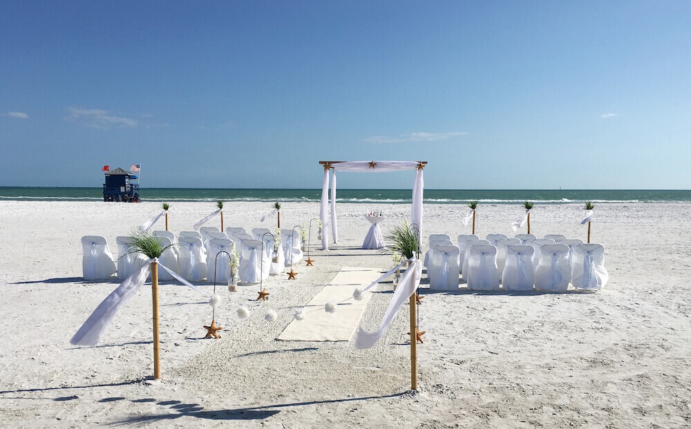 Ocean Waves White Beach Wedding Package With Starfish Floridasunweddings