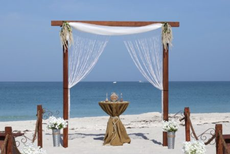 Rustic romance beach wedding package | florida sun weddings