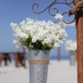 french flower bucket |rustic beach wedding