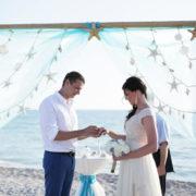 sea stars beach wedding package in white aqua   floridasunweddings.com