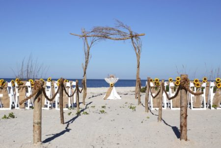 Simply Nature beach wedding package | wooden decor