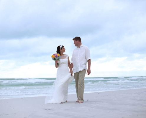 Beach Wedding Attire by Florida Sun Weddings