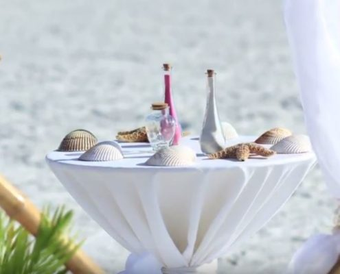 Florida Sun Wedding Sand Beach Wedding Ceremony