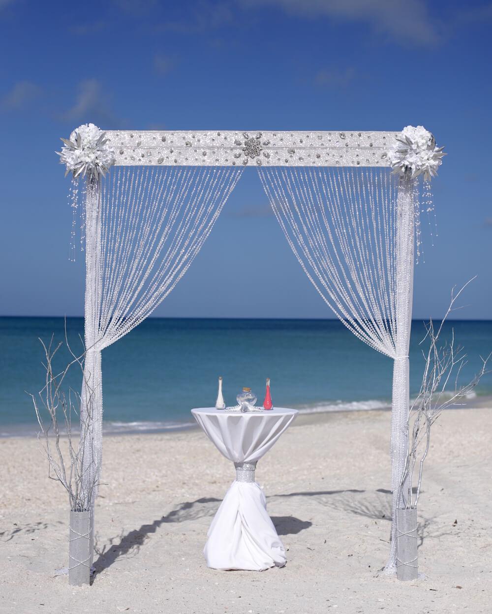 Siesta Key Beach Wedding Ceremony: Ocean Bling Beach Wedding Package