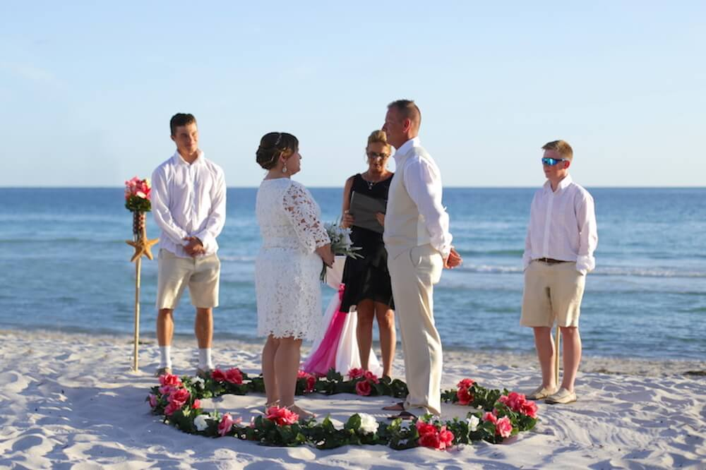 Circle of Love beach wedding elopement package in florida