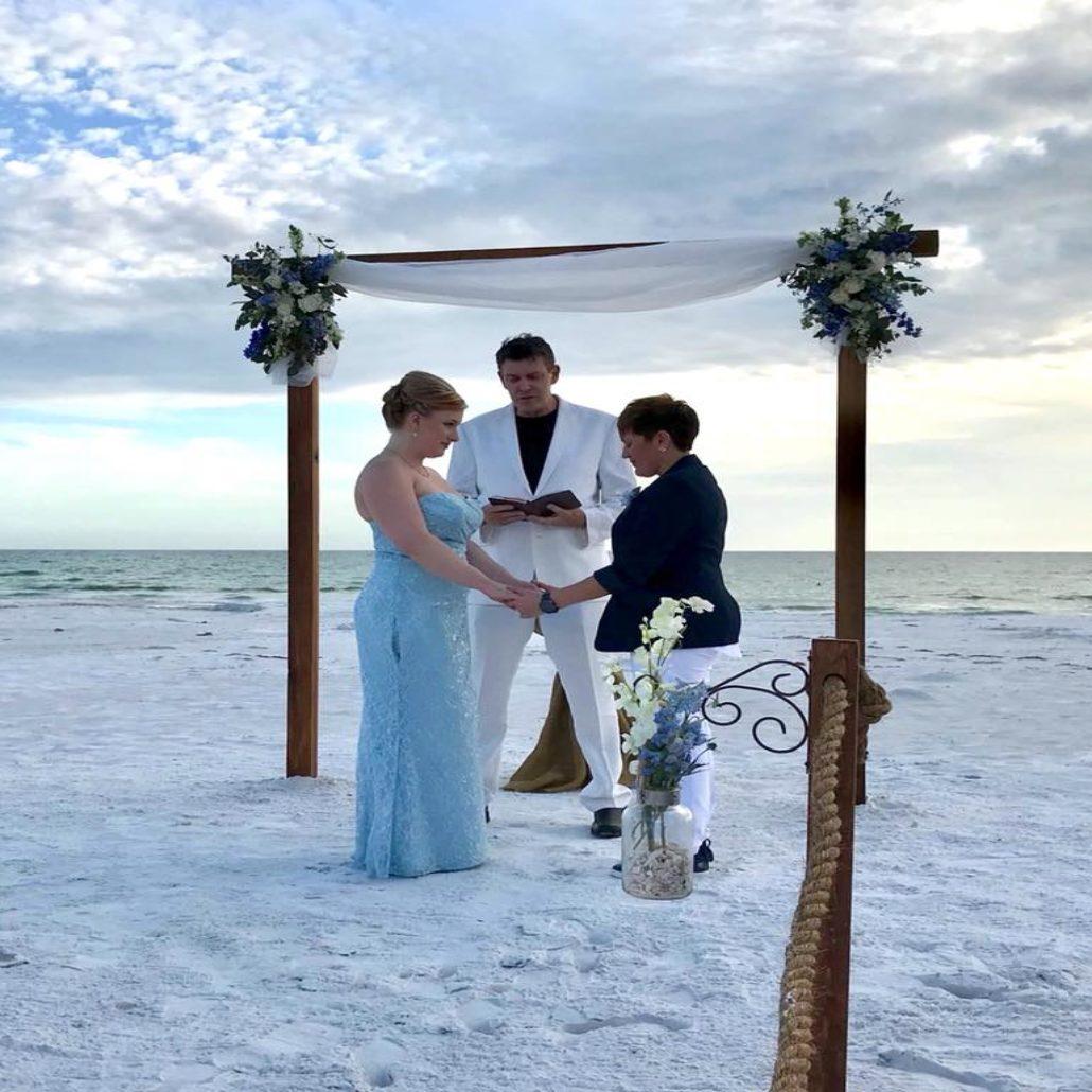 Siesta Key Beach Wedding Ceremony: Same Sex Beach Wedding Ceremonies In Florida