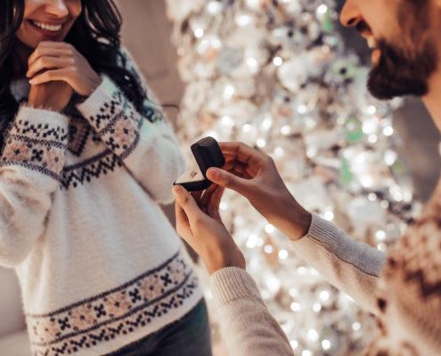 Christmas Holiday Proposal Engagement - Destination Beach Wedding | Florida Sun Weddings