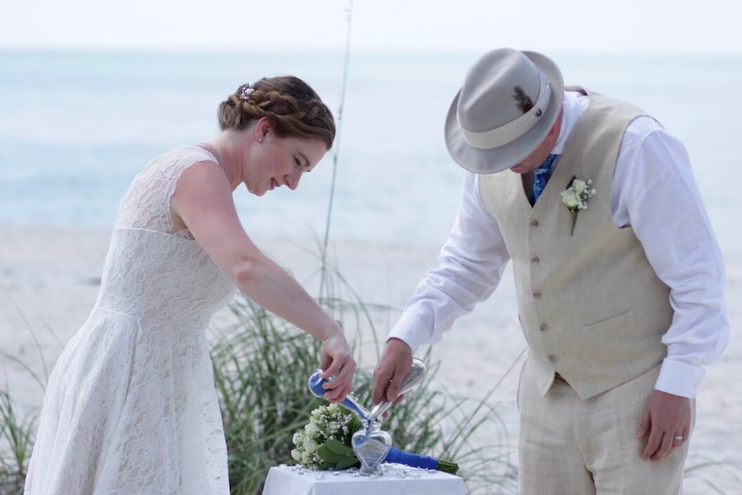 Florida Beach Elopement Package Bride and Groom Sand Ceremony