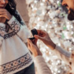 Christmas Holiday Proposal Engagement - Destination Beach Wedding | Florida Sun Weddings
