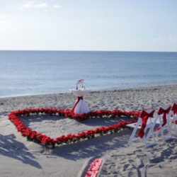 Beach wedding package Heart of Love