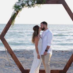Boho Themed Beach Wedding Ceremony in Florida