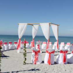Sea of Love beach wedding package in Coral
