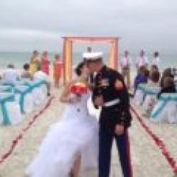 whispering sands custom colors beach weddings package | florida beach wedding