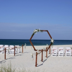 Modern Love - Hexagon Arch Trellis beach wedding package