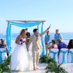 ocean waves aqua beach wedding package with starfish | floridasunweddings.com
