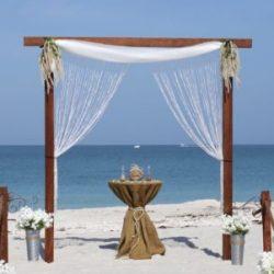 Rustic romance beach wedding package | florida sun weddings