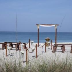 rustic romance beach wedding in florida