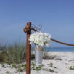 beach wedding in florida french flower bucket