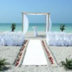 whispering sands beach wedding package in white | florida sun weddings
